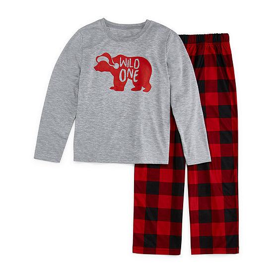 North Pole Trading Co. Christmas Little & Big Unisex 2-pc. Pant Pajama Set