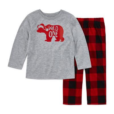 North Pole Trading Co. Buffalo Plaid Family Unisex 2-pc. Pant Pajama Set Toddler