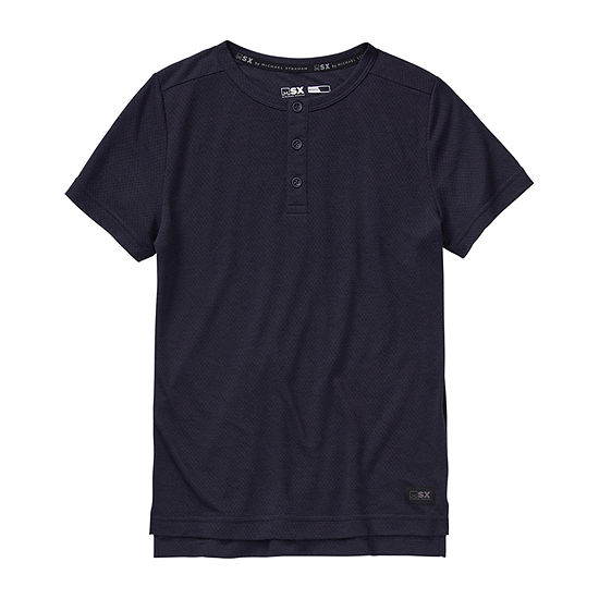 Msx By Michael Strahan Boys Short Sleeve Henley Shirt - Big Kid