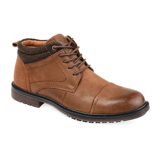 Vance Co Mens Draven Chukka Boots Block Heel