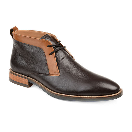 Vance Co Mens Sullivan Chukka Boots Block Heel