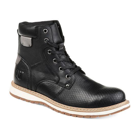 Vance Co Mens Trent Chukka Boots Block Heel