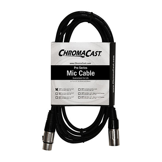 ChromaCast Pro Series Mic Cable - 10 Feet