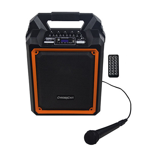 ChromaCast Portable 60-Watt Rechargeable Bluetooth PA Speaker with Mic
