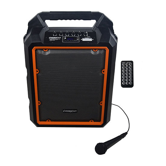 ChromaCast Portable 80-Watt Rechargeable Bluetooth PA Speaker with Mic