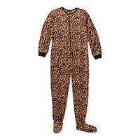 Deals on Rene Rofe Womens Microfleece Long Sleeve One Piece Pajama