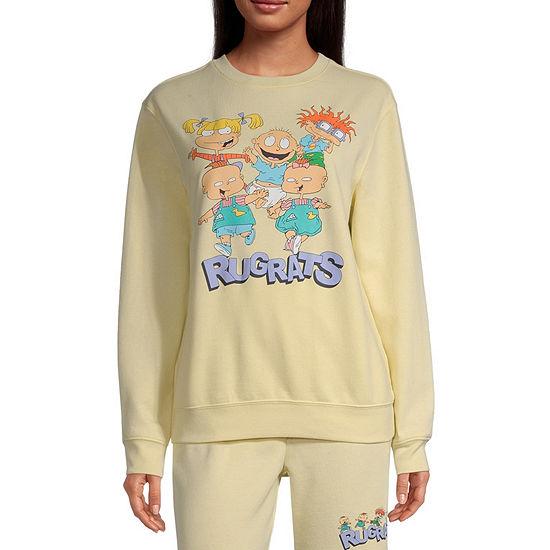 Juniors Womens Crew Neck Long Sleeve Sweatshirt