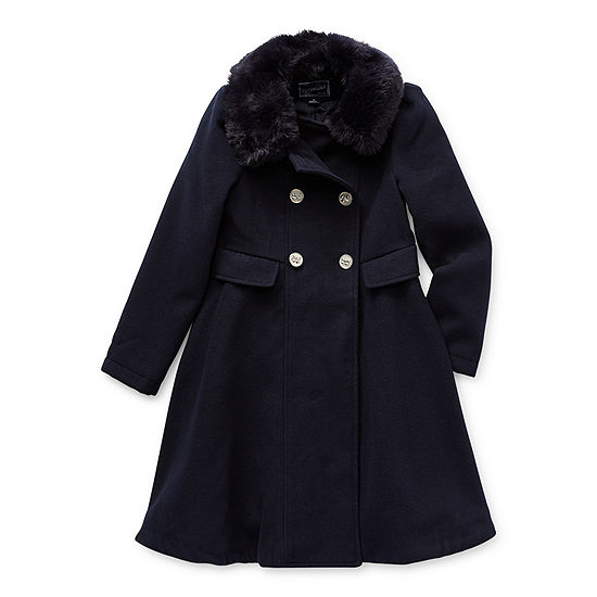S Rothschild Little & Big Girls Midweight Faux Fur Coat