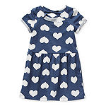 Okie Dokie Toddler Girls Short Sleeve A-Line Dress