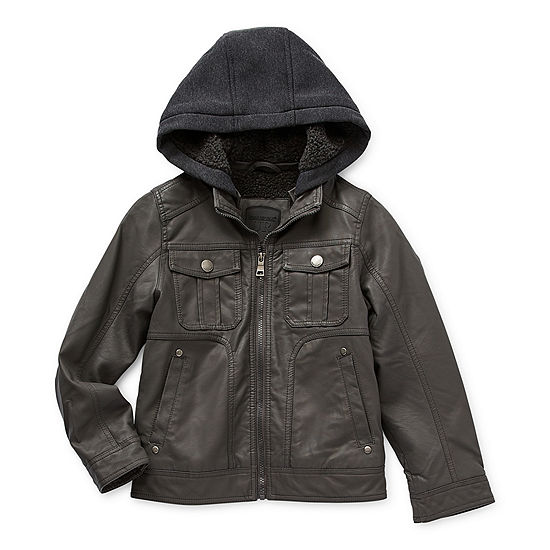 Urban Republic Little & Big Boys Midweight Motorcycle Jacket