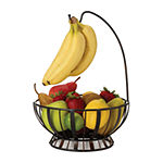 Gourmet Basics by Mikasa Fruit Basket and Banana Hanger
