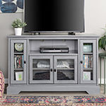 "52"" Wood Highboy Media Storage Console TV Stand"