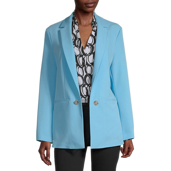 Worthington Womens Regular Fit Slit Sleeve Blazer
