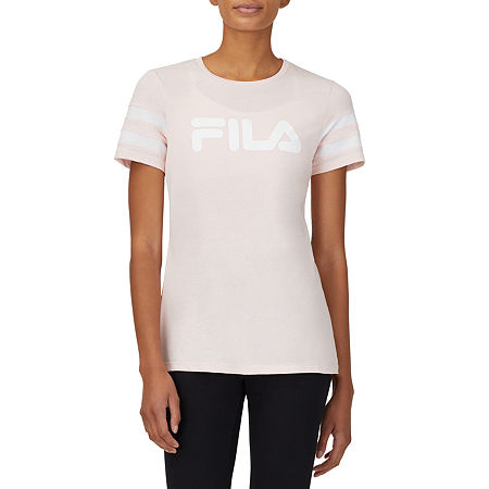 Fila Throwback Womens Crew Neck Short Sleeve T-Shirt, Small , Pink
