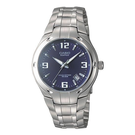Casio Mens Silver Tone Stainless Steel Bracelet Watch-Ef106d-2av