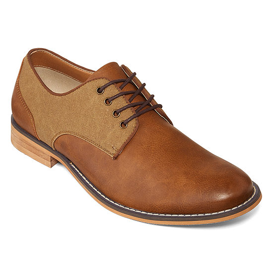 JF J.Ferrar Mens Titus Oxford Shoes Lace-up Round Toe