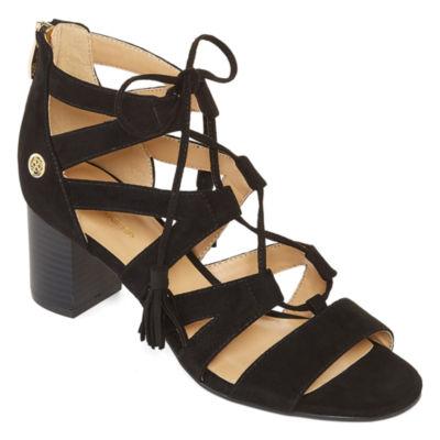 Liz Claiborne Womens Tacey Heeled Sandals