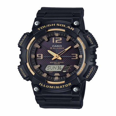 Casio Mens Black Strap Watch-Aqs810w-1a3v