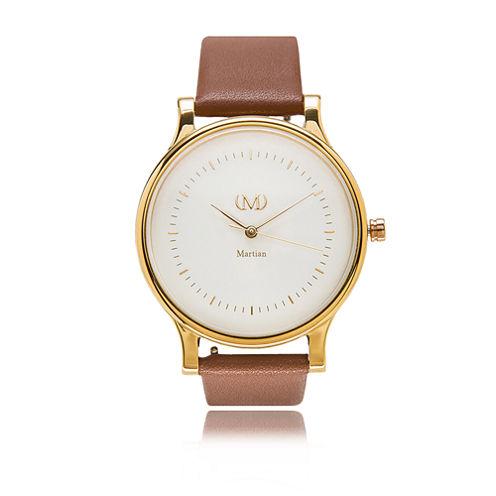 Martian Womens mVip CL 05 Brown Smart Watch-Mps01cl054