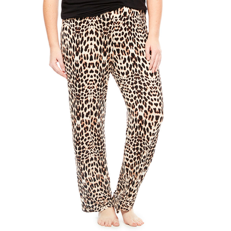 Ambrielle Knit Pajama Pants - Plus plus size,  plus size fashion plus size appare