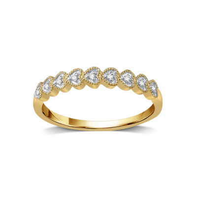 Womens Diamond Accent White Diamond 10K Gold Band