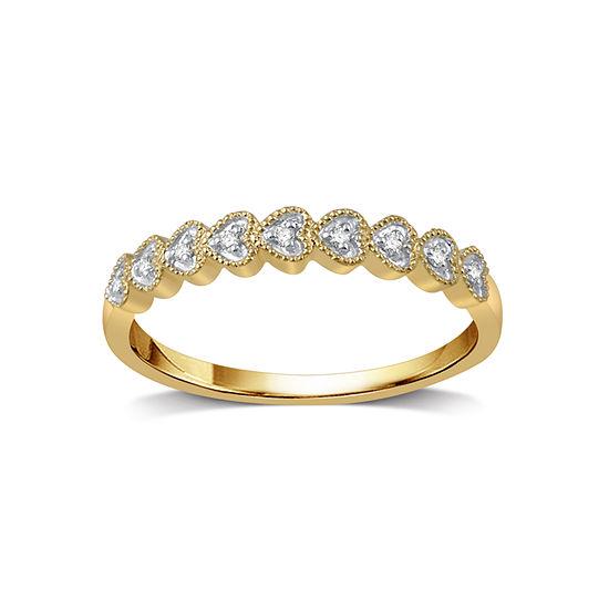 Diamond Accent Genuine White Diamond 10K Gold Band