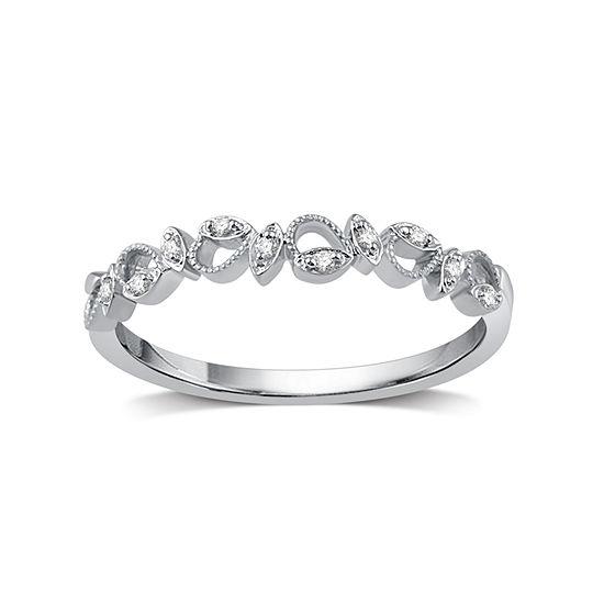 Womens Diamond Accent Genuine White Diamond 10K Gold Promise Ring