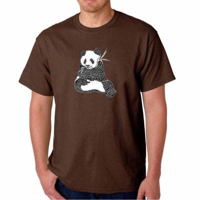 Los Angeles Pop Art Endangered Species Short Sleeve Word Art T-Shirt - Big and Tall