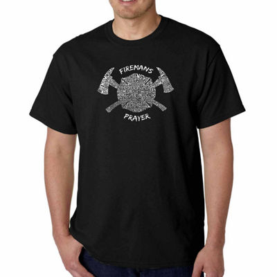 Los Angeles Pop Art Fireman's Prayer Short SleeveWord Art T-Shirt - Big and Tall