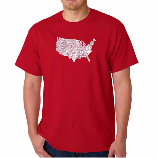Los Angeles Pop Art the Star Spangled Banner ShortSleeve Word Art T-Shirt - Big and Tall