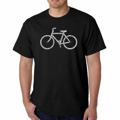 Los Angeles Pop Art Save a Planet Ride a Bike Short Sleeve Word Art T-Shirt - Big and Tall