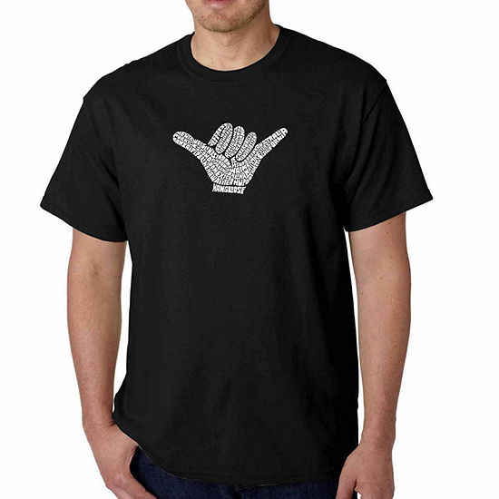 Los Angeles Pop Art Top Worldwide Surfing Spots Short Sleeve Word Art T-Shirt - Big and Tall