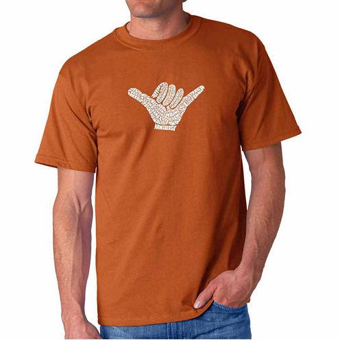Los Angeles Pop Art Short Sleeve Crew Neck T-Shirt-Big and Tall
