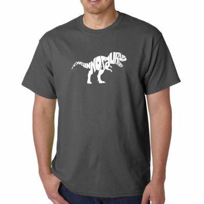 Los Angeles Pop Art Tyrannosaurus Rex Short SleeveWord Art T-Shirt - Big and Tall