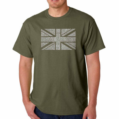 Los Angeles Pop Art Union Jack Short Sleeve Word Art T-Shirt - Big and Tall