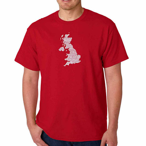 Los Angeles Pop Art God Save The Queen Short Sleeve Crew Neck T-Shirt-Big And Tall