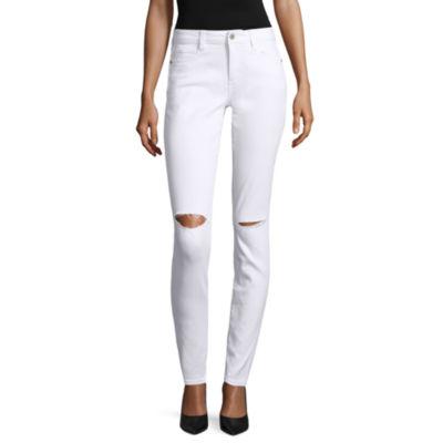 Arizona Slit Knee Skinny Jeans - Juniors
