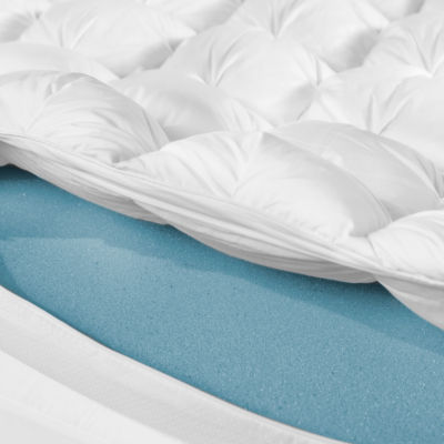 "Sensorpedic 4"" Gel Infused Memory Foam & Synthetic Down Mattress Topper"