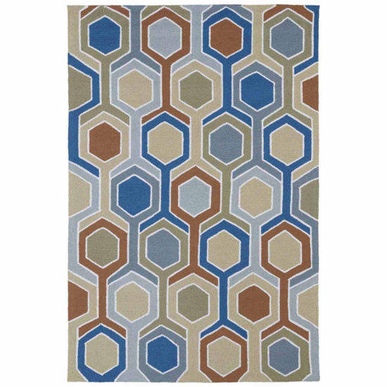 Kaleen Home And Porch Geo Hand Tufted Rectangular Rugs