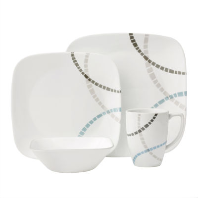 Mosaic Bands 16-pc. Dinnerware Set