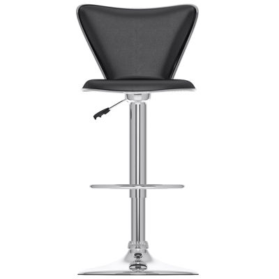 Curved Back Adjustable Bar Stools- Set of 2