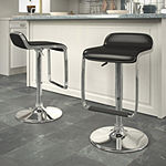 Adjustable Bar Stools with Footrests- Set of 2