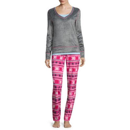 Flirtitude 3-pc. Checked Pant Pajama Set-Juniors