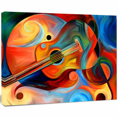 Designart Music And Rhythm Abstract Canvas Art Print