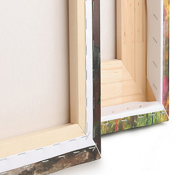 Designart Board Stained Abstract Canvas Art Print-4 Panels