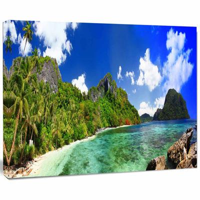 Designart Tropical Scenery Landscape Photography Canvas Art Print