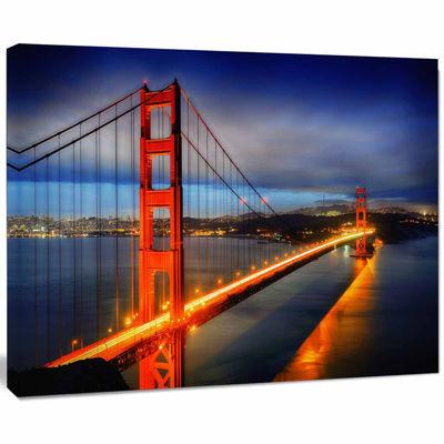 Design Art Golden Gate Bridge Landscape Photography Canvas Print