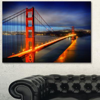 Designart Golden Gate Bridge Landscape PhotographyCanvas Print
