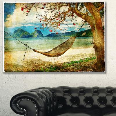 Designart Tropical Sleeping Swing Digital Art Landscape Canvas Print