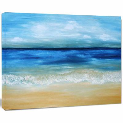 Designart Warm Tropical Sea And Beach Canvas Art Print
